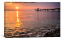 Clevedon Sunset, Canvas Print