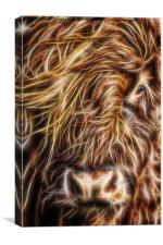 Electric Cow, Canvas Print
