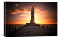Sunrise Lighthouse, Canvas Print