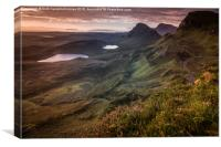 Quiraing Heather, Canvas Print