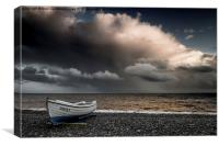 Watch out Daisy, Storm coming!, Canvas Print