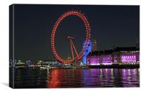 London Eye in Colour, Canvas Print