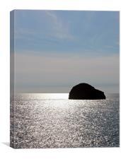 Gull Rock, Trebarwith Strand, Cornwall, Canvas Print