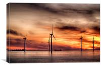 Wind Powered Sunrise, Canvas Print