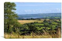 A view of Chew Valley Lake Somerset, Canvas Print