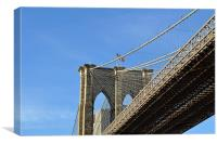 Brooklyn Bridge New York, shot from underneath, Canvas Print