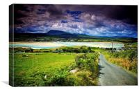 Sunny day in Ireland, Canvas Print