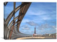 Blackpool Promenade, Canvas Print