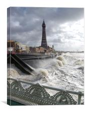 Blackpool Storm, Canvas Print