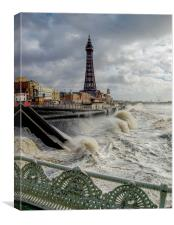 Blackpoolstorm, Canvas Print