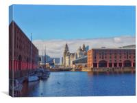 Albert Dock,Liverpool   , Canvas Print