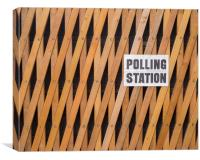 Polling Station, Canvas Print