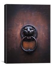 Bronze Door Knocker.     , Canvas Print