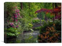 Garden Bridge, Canvas Print