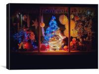 Christmas Shop., Canvas Print