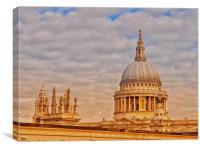 St Pauls Cathedral,London,UK., Canvas Print