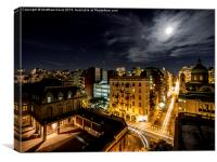 Full Moon Buenos Aires, Canvas Print