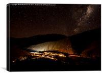 Pisco Elqui en la Noche, Canvas Print