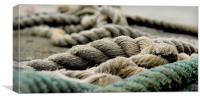Hoo Marina, Kent, Mooring Rope, Canvas Print