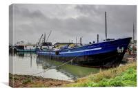 Hoo Marina, Moored Boat, Canvas Print