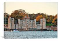Upnor Castle, Kent, Dusk, Canvas Print