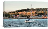 River Medway, Yacht, Canvas Print