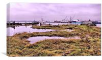 Hoo Marina, Kent,  Boats, Canvas Print