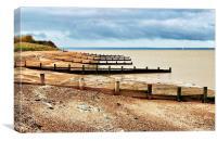 Isle of Grain, Kent, Beach View, Canvas Print