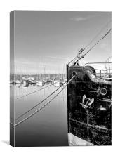 Chatham Marina, Kent, Yachts, Canvas Print