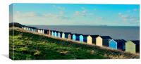 Tankerton, Beach Huts, Canvas Print