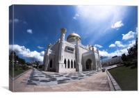 Sultan Omar Ali Saifuddien Mosque, Canvas Print