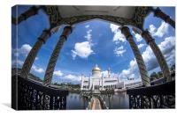 Brunei Mosque, Canvas Print