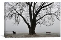 Nature and Dog at Rest, Canvas Print