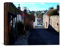 The Road to Crail Harbour, Canvas Print