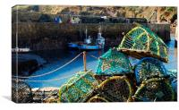 Lobster Pots at Crail Harbour, Canvas Print