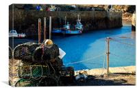 Low Tide at Crail Harbour, Canvas Print