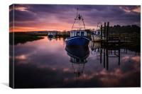 Thornham boats at dawn, Canvas Print