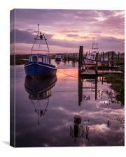 Thornham Staithe Sunrise., Canvas Print