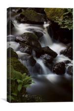 Lodore Falls., Canvas Print