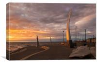 Cleveleys Sunset, Canvas Print