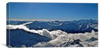 French Alps Looking East 2, Canvas Print