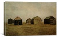 Winterton Boat sheds, Canvas Print