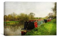Oundle Backwater, Canvas Print