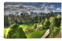 Powis Castle Garden, Canvas Print