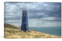 The Blue Lighthouse, Canvas Print