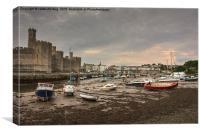 Caernarfon At Low Tide, Canvas Print