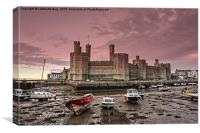 Caernarfon Castle Sunrise, Canvas Print
