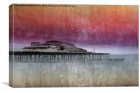 Sunset At Victoria Pier, Canvas Print