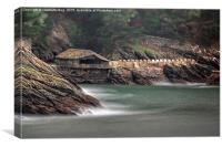 Boathouse Kingswear, Canvas Print