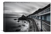 Meadfoot Beach Huts, Canvas Print